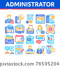 Administrator Business Collection Icons Set Vector Illustrations 76595204