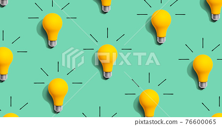 Yellow light bulb pattern with shadow 76600065