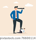Business concept of giant foot trampling a businessman. Concept of power. 76600114