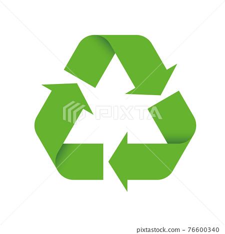3D Green Universal Recycling Symbol 76600340