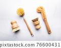Bamboo Kitchen Scrub Brush Set of 4 76600431