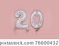 Silver Number Balloons 20 76600432