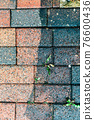 Cleaning of tiles in the garden with pressure washer 76600436