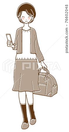 여성, 여자, 시니어 76602048