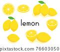 檸檬 水果 矢量 76603050