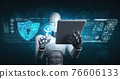 AI robot using cyber security to protect information privacy 76606133