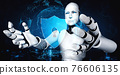 AI robot using cyber security to protect information privacy 76606135