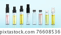 Perfume sample bottles small vials, mockup set 76608536