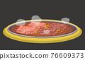 炭火烤的肉 韓國燒烤 燒肉 76609373