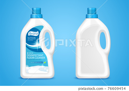 3d plastic bottle package mock ups 76609454