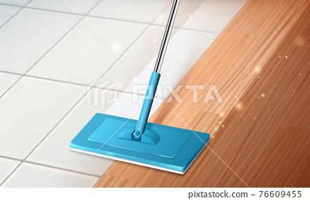 Mop cleaning floor 76609455