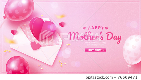 3d Mother's Day web event template 76609471