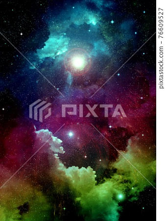 galaxy in a free space. 3D rendering 76609527