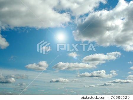Cloudy sky background 76609529