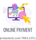 Online payment. Electronic transaction concept. Global internet banking 76611351