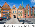 Schlachtermarkt square in Schwerin, Germany 76611678