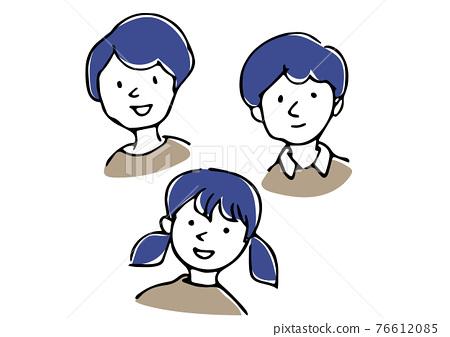웃는 아이의 일러스트 76612085