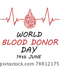 World blood donor day card Vect ill 76612175