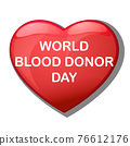World blood donor day card Vect ill 76612176