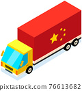 Transport with symbol of china. Delivery of parcels from china by vehicle vector illustration 76613682