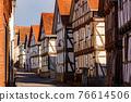 The historic village of Herleshausen in Hesse Germany 76614506