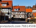 The historic village of Herleshausen in Hesse Germany 76614508