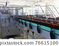 Beer In Brown Plastic Bottles On The Conveyor 76615100