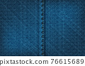 Vector illustration of blue rough vector texture. 76615689