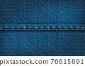 Vector illustration of blue rough vector texture. 76615691