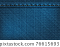 Vector illustration of blue rough vector texture. 76615693
