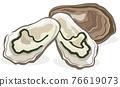 牡蠣 外殼 殼 76619073