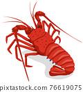 大螯蝦 龍蝦 對蝦 76619075