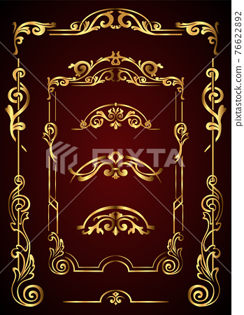 Flourish calligraphic design elements. Vintage swirls and scrolls for page decoration. Ornate symbols for retro design frames and invitations 76622892
