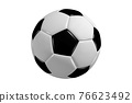 Soccer ball isolated on white background 76623492