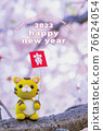 new year's card, tiger, tigers 76624054