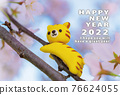 new year's card, tiger, tigers 76624055