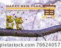 new year's card, tiger, tigers 76624057