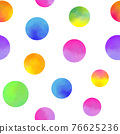 pattern with watercolor circles 76625236