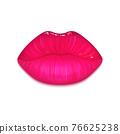 Realistic vector lips 76625238