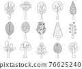 Collection of hand drawn trees 76625240