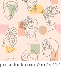 pattern with women faces 76625242