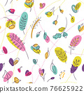 Millefleur seamless pattern with neon color summer 76625922