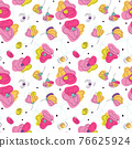 Summer flowrbed seamless pattern 76625924