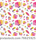 Summer bright floral seamless pattern 76625925