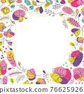 Summer floral light background for social network 76625926