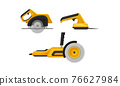 Yellow Power Tool for Construction Work Like Cutting and Polishing Vector Set 76627984