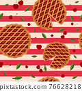 Pie pattern vector 76628218