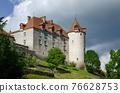 Medieval castle of gruyeres, switzerland 76628753