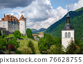 Medieval castle of gruyeres, switzerland 76628755