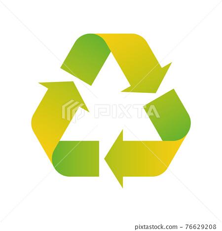 3D Green Universal Recycling Symbol 76629208
